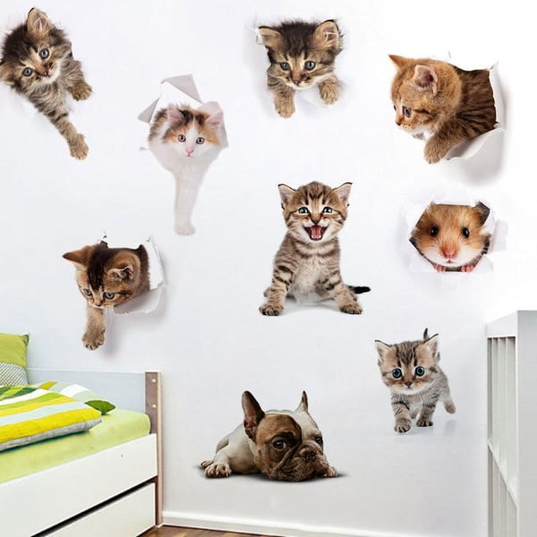 Brand New - 3D Cat Decal