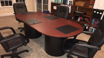 Conference table and 4 chairs