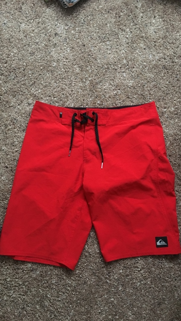 3e86781874 Used red Quiksilver drawstring boardshorts for sale in Norfolk - letgo