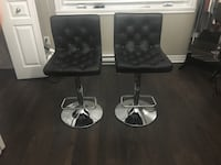 Set of black leather bar stools (almost new) Montréal, H2N 1X1