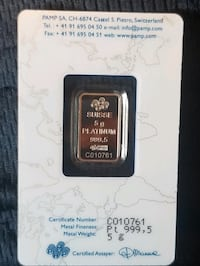 Platinum bar 5g sealed