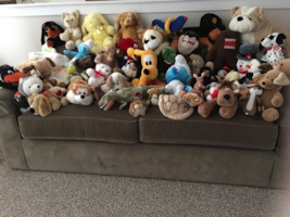 LOTS OF CLEAN PLUSH TOYS FOR GIFT GIVING