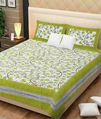green and white floral bed sheet New Delhi, 110060
