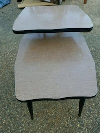 black and gray folding table Magee