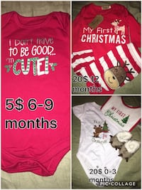 baby's assorted color onesie collage