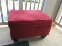red fabric padded ottoman chair Greenville, 29617
