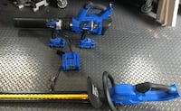 4 Kobalt 24V power tools with 2 batteries & charger