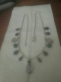 Silver necklace real stones Greenville, 29609