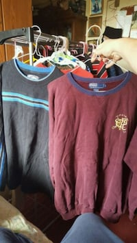 men's size L, sweat shirts  $5 each  Alma, 48801