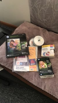 Hp photo paper ,cd  and dvd  discs ,cd and dvd sleeves  side inserts  sheet protectors. Various prices  smoke free home Troy, 12180