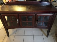Solid wooden framed glass cabinet it's heavy and price is negotiable Los Angeles, 90012