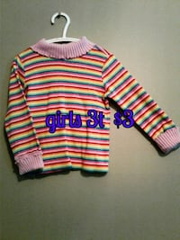 pink, white, and black stripe sweater Calgary, T3B 0T3