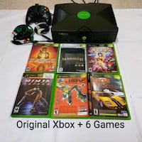 Xbox + 6 Games + Controller + Cabled Norman, 73072