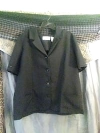 Alfred Dunner black button up jackets size 18