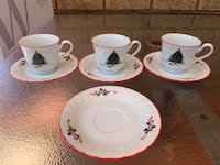 Set of Christmas Cups and Saucers Mississauga, L5N 7T7