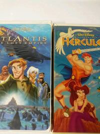 Atlantis the lost empire and Hercules vhs tapes Baltimore