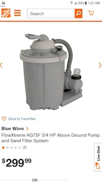 *BRAND NEW* Blue Wave Flow Xtreme AG75F Above Ground Pool Pump Chandler, 85226