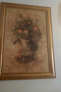 brown wooden framed painting of brown petaled flower Havre de Grace, 21078