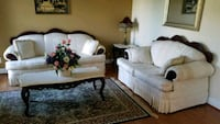 Sofa, love seat, side table, center table