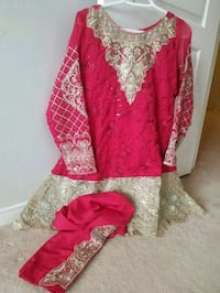 red and white floral traditional dress Ajax, L1T 4N4