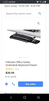Fellowes Keyboard tray mouse tray Phoenix, 85016