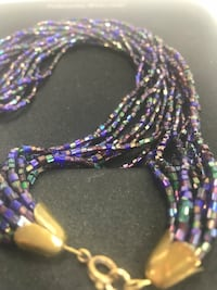 Multi strand 24 inch glass bead necklace