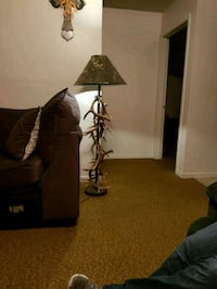 Deer antler lamp with camouflage shade 1328 mi