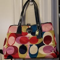 bright colored Coach leather tote bag San Antonio