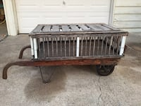 Antique coffee table industrial dolly Irving, 75062