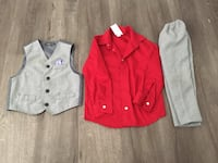 Boy party outfit with vest size 5t Simi Valley, 93063