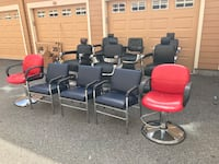 leather armchairs lot