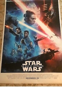 Full sized Star Wars Rise of Skywalker poster Glen Burnie, 21061