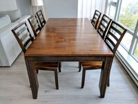 rectangular brown wooden table with four chairs dining set Richmond, V6Y 0A5
