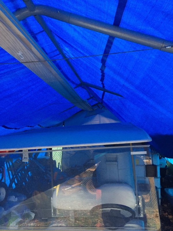 Used Used carport frame only for sale in Stoneham - letgo