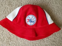 red/white philadelphia 76ers bucket hat