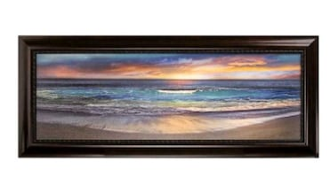 Malibu Shoreline Framed Canvas Art Print