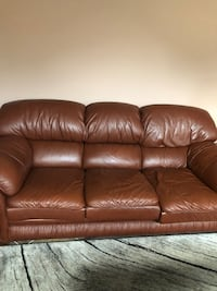 brown leather 3-seat sofa Vaughan, L4H 2G3