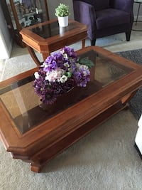 Brown wooden framed glass top coffee table. Just need it gone! Albany, 97321