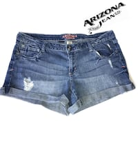 Arizona Jean Co. Womens distress Jean Shorts Size 13