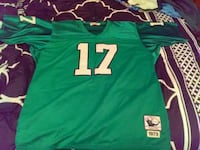 green and white 17 jersey shirt