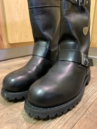 Biker Pull On Boots - Size 10