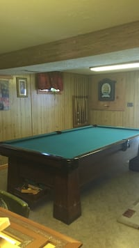 Brown and green wooden billiard pool table Charlottesville, 22902