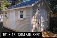 New 10' x 16' Almond Vinyl Chateau Shed