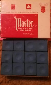 gray master billiard chalk with box