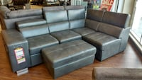 Gel leather sectional on sale