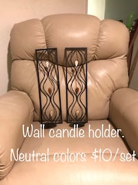 Candle holder for the wall