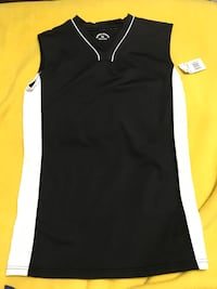 Black & White Sleeveless Sport Shirt