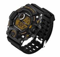 BRAND NEW! Waterproof LED Digital Sport Watch, Matte Black, Military Dive Shock Silicone Style Toronto, M5V 3P5