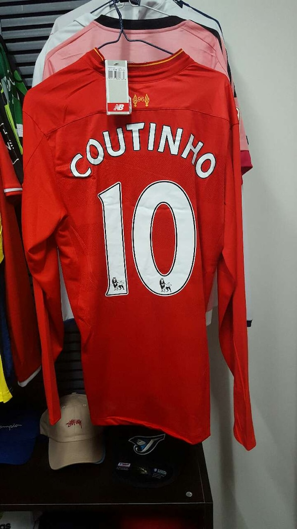 d46245165ad Used red and white Coutinho 10 jersey for sale in Ontario - letgo