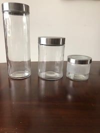 3 glass canister set